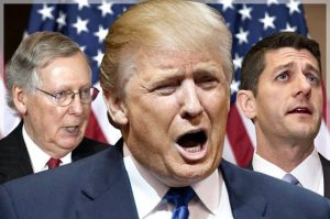 Mitch McConnell, Donald Trump, Paul Ryan