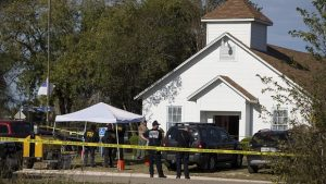 A Baptist church in south Texas, scene of the latest American carnage. Photo: Nick Wagner/AP.