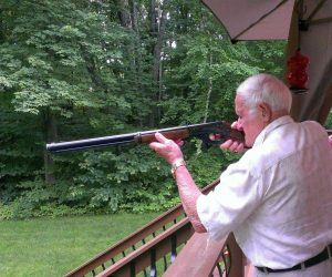 Grandpa and his gun—a misguided nostalgia. Photo: Reddit.
