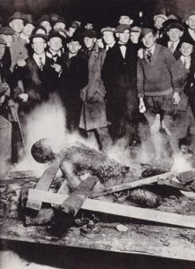 The body of Will Brown after being burned by a white crowd on 28-29 September 1919 in Omaha, Nebraska. Photograph: SeM/UIG via Getty Images.