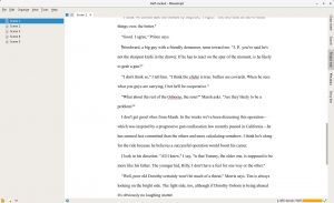 Manuskript is probably the best Scrivener-inspired open source program.
