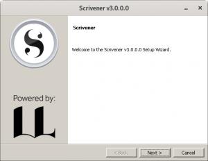 The Scrivener 3 setup wizard.